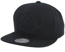 Toronto Raptors Black On Black Snapback - Mitchell & Ness