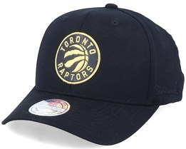 Toronto Raptors Bullion Black/Gold Adjustable - Mitchell & Ness