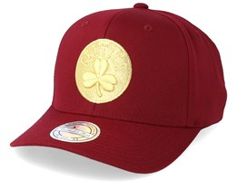 Boston Celtics Multi 110 Maroon/Gold Adjustable - Mitchell & Ness