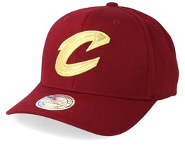 Cleveland Cavaliers Multi 110 Maroon/Gold Adjustable - Mitchell & Ness