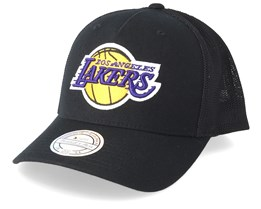 LA Lakers Fuse 110 Black Trucker - Mitchell & Ness