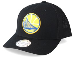 Golden State Warriors Fuse 110 Black Trucker - Mitchell & Ness