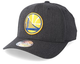 Golden State Warriors Logo 110 Charcoal Adjustable - Mitchell & Ness