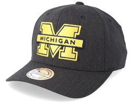 Michigan Wolverines Logo 110 Charcoal Adjustable - Mitchell & Ness