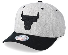 Chicago Bulls 110 Heather Grey/Black Adjustable - Mitchell & Ness