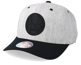 Golden State Warriors 110 Heather Grey/Black Adjustable - Mitchell & Ness
