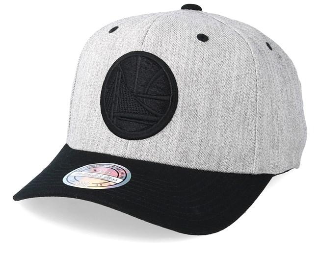 Mitchell /& Ness Golden State Warriors Melange Logo 110 Black Adjustable