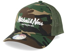 Own Brand Pinscript 110 Camo Trucker - Mitchell & Ness