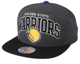 Golden State Warriors Team Arch Charchoal/Black Snapback - Mitchell & Ness