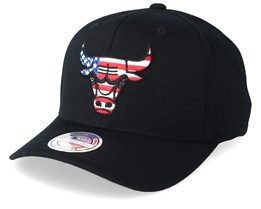 Chicago Bulls USA Logo 110 Black Adjustable - Mitchell & Ness