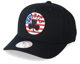 Boston Celtics USA Logo 110 Black Adjustable - Mitchell & Ness