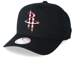 Houston Rockets USA Logo 110 Black Adjustable - Mitchell & Ness