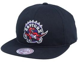 Toronto Raptors Logo Deadstock Throwback Black Snapback - Mitchell & Ness