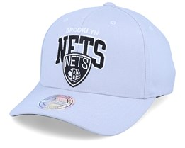 Brooklyn Nets Team Arch Grey 110 Adjustable - Mitchell & Ness