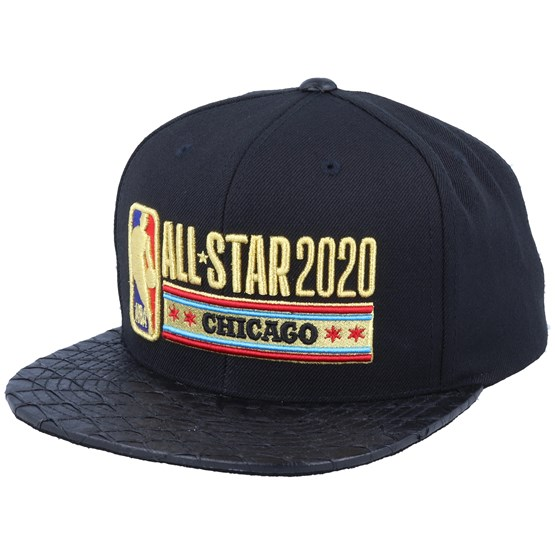 Keps NBA All Star 2020 Lux Stars Black/Gold Snapback - Mitchell & Ness - Svart