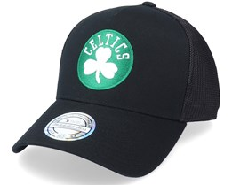 Boston Celtics Team Logo Black 110 Trucker - Mitchell & Ness