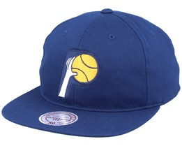 Indiana Pacers Deadstock Throwback Navy Snapback - Mitchell & Ness