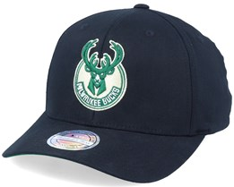 Milwaukee Bucks Logo High Crown Black 110 Adjustable - Mitchell & Ness
