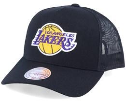 LA Lakers Logo Classic Black Trucker - Mitchell & Ness