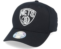 Brooklyn Nets Neon Lights Black 110 Adjustable - Mitchell & Ness