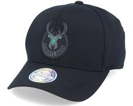 Milwaukee Bucks Siege Black 110 Adjustable - Mitchell & Ness