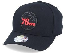 Philadelphia 76ers Siege Black 110 Adjustable - Mitchell & Ness