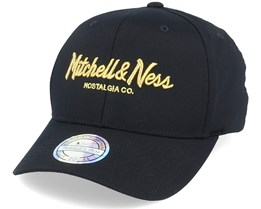 Own Brand Metallic Pinscript Black/Gold 110 Adjustable - Mitchell & Ness