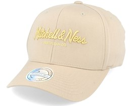 Own Brand Metallic Pinscript Khaki/Gold 110 Adjustable - Mitchell & Ness