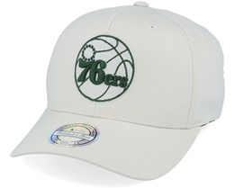Philadelphia 76ers Stone/Forest 110 Adjustable - Mitchell & Ness