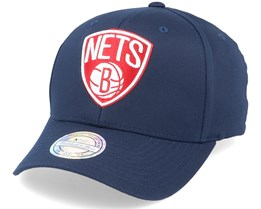 Brooklyn Nets Navy/Red/White 110 Adjustable - Mitchell & Ness