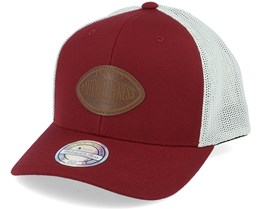 Own Brand Touchdown Burgundy/White 110 Trucker - Mitchell & Ness