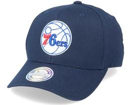 Philadelphia 76ers Team Logo NBA Navy 110 Adjustable - Mitchell & Ness