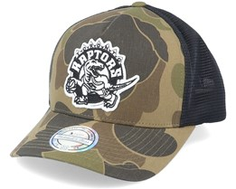 Toronto Raptors Duck Camo/Black 110 Trucker - Mitchell & Ness