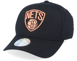 Brooklyn Nets Black/Orange 110 Adjustable - Mitchell & Ness