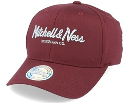 Own Brand Metallic Pinscript Burgundy/Silver 110 Adjustable - Mitchell & Ness