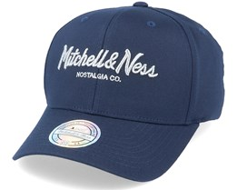 Own Brand Metallic Pinscript Navy/Silver 110 Adjustable - Mitchell & Ness