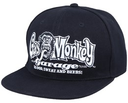 OG Logo Black/White Snapback - Gas Monkey