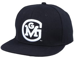 3D Initial Logo Black/White Snapback - Gas Monkey