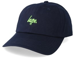 Green Neon Flash Dad Hat Navy/Neon Green Adjustable - Hype