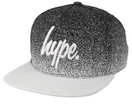 Mono Speckle Fade Script Black/White Snapback - Hype