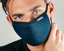 3-Pack Navy Set Navy Face Mask - Hype