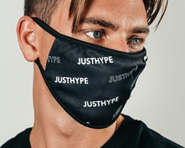 Bold Logo Black/White Face Mask - Hype