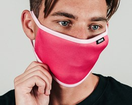 Pink & White Face Mask - Hype