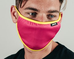 Pink & Yellow Face Mask - Hype