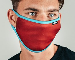 Burgundy & Blue Face Mask - Hype