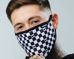 Checkerboard Face Mask - Hype
