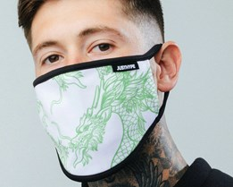 Dragon White/Green Face Mask - Hype