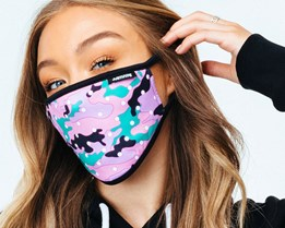 Dotty Pink Camo Face Mask - Hype