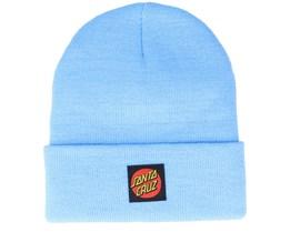 Classic Label Dot Beanie Powder Blue Cuff - Santa Cruz