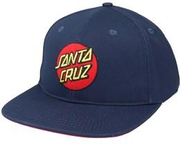 Classic Dot Dark Navy Snapback - Santa Cruz
